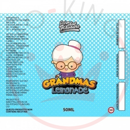 Pot Shot Flavour Grandmas Lemonade 0 mg 50ml+10ml Mix&vape
