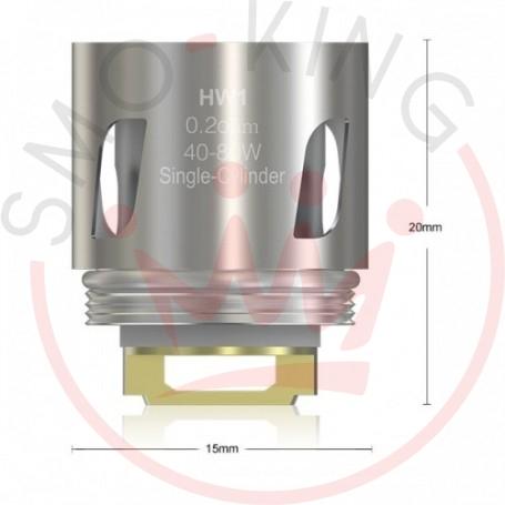 Eleaf Hw1 Resistenza Da 0.2ohm Per Atomizzatore Ello, Ello Mini E Mini Xl, 5 Pezzi