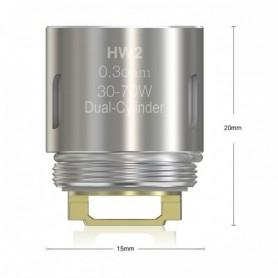 Eleaf Hw1 Resistenza Da 0.3ohm Per Atomizzatore Ello, Ello Mini E Mini Xl, 5 Pezzi