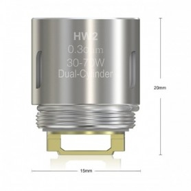 Eleaf Hw2 Resistance From 0.3 ohm Atomizer Ello, Ello Mini And Mini Xl, 5 Pieces