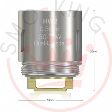 Eleaf Hw2 Resistenza Da 0.3ohm Per Atomizzatore Ello, Ello Mini E Mini Xl, 5 Pezzi