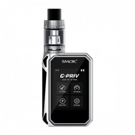 Smok Kit Gpriv 220w Touch Screen Tc Mod Black Silver