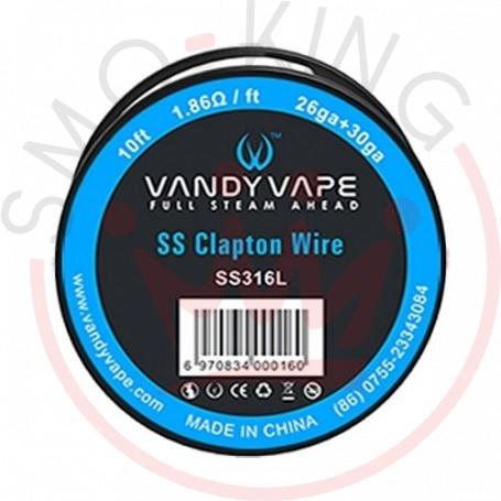 Vandy Vape Ss Clapton Wire Ss316l/26ga+30ga 3ml