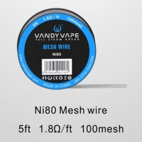 Vandy Vape Ni80 Mesh Wire 1.8ohm 1,50ml