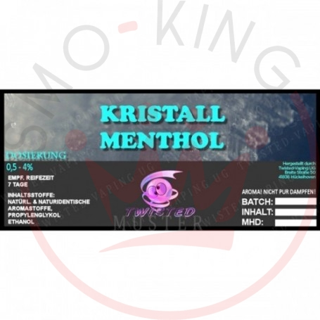 Twisted KRISTALL MENTHOL Flavour 10ml