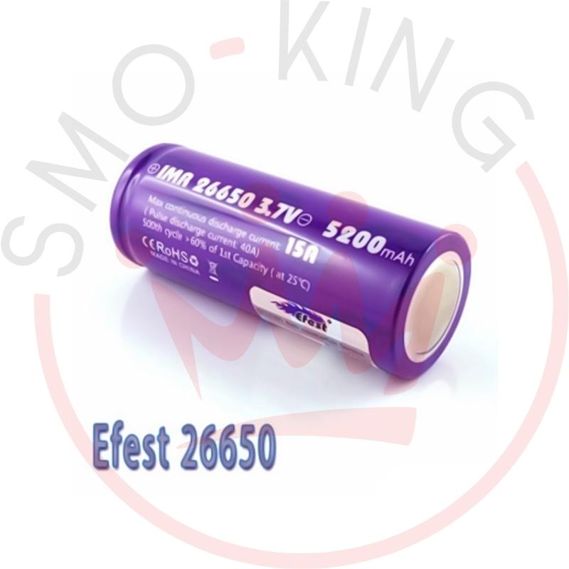 Efest Batteria 26650 5200mah 64a Flat Top