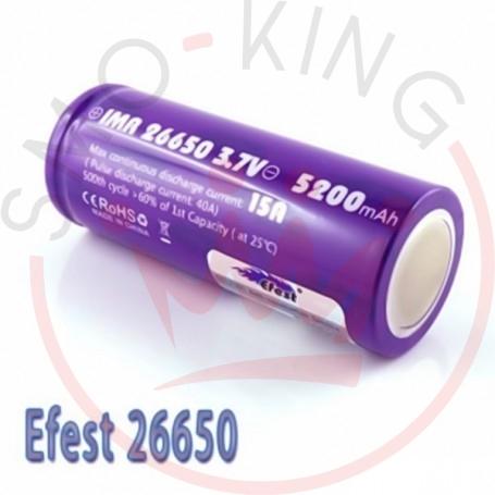 EFEST Battery 26650 5200mah 64a-Flat Top