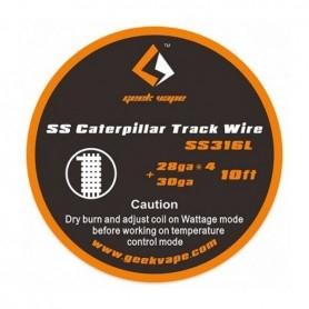 Geekvape SS Caterpillar Track Wire SS316L 28ga*4+30ga 3mt