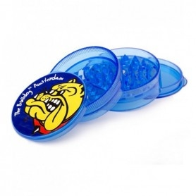 Grinder The Bulldog Plastic Blue Transparent 4 parts