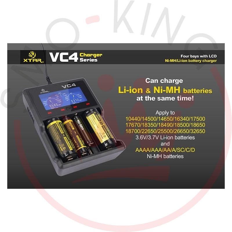 Xtar VC4 Caricabatterie LCD Charger