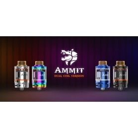 Geekvape Ammit Dual Coil Rta Atomizzatore 25mm Blue