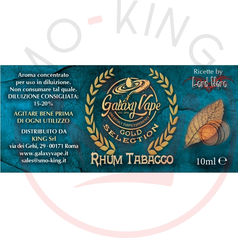 Galaxy Vape Aroma Linea Gold Selection Rhum Tabacco 10ml