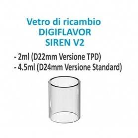 DigiFlavor Replacement Glass for Siren 2 2ml