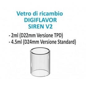 DigiFlavor Vetro di Ricambio per Siren 2 2ml