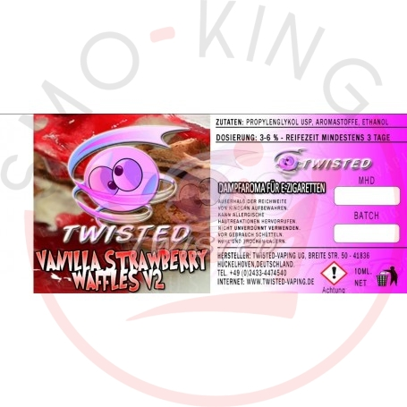 Twisted Vanilla Strawberry Waffles v2 Aroma 10ml