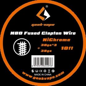 Geekvape N80 Fused Clapton Wire 30ga*3+38ga