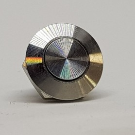 Chromed 16mm Button