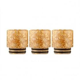 Drip Tip 810 Resina Oro Glitter