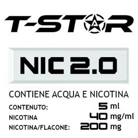 T-Star Nicotina in Acqua 200mg 5 ml