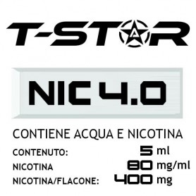 T-Star Nicotina in Acqua 400mg 5 ml