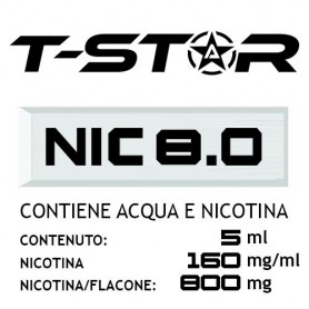 T-Star Nicotina in Acqua 800mg 5 ml