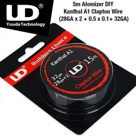 Youde Clapton Roll Coil Kanthal A1 28ga X 2+32ga 5ml