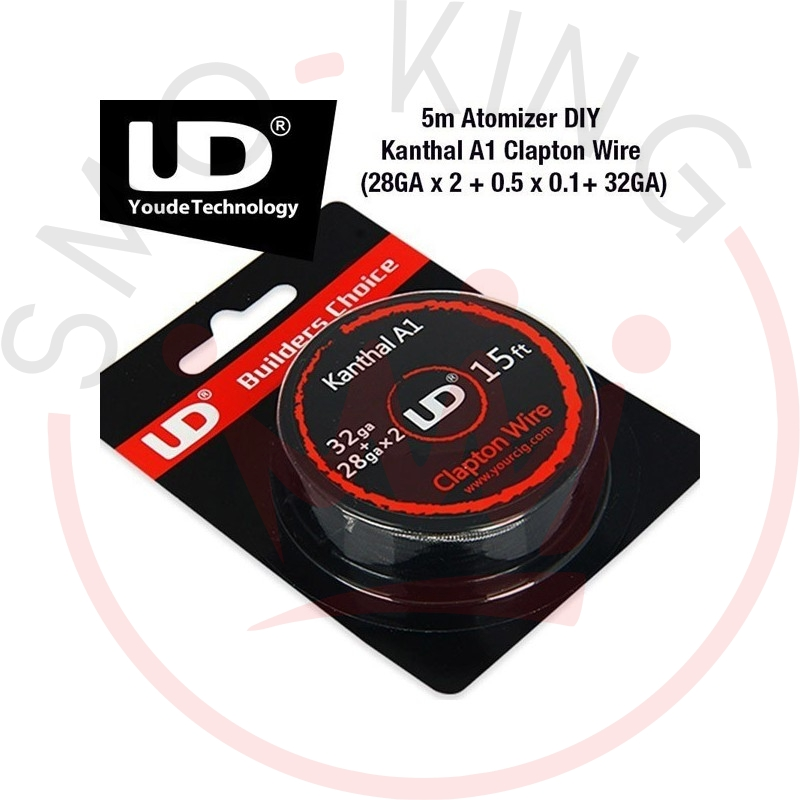 YOUDE Clapton Roll Coil, kanthal wire A1 28ga X 2 + 32ga 5ml