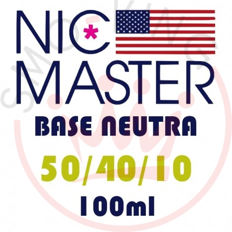 NIC MASTER Neutral Base Regular 50/40/10 100 ml
