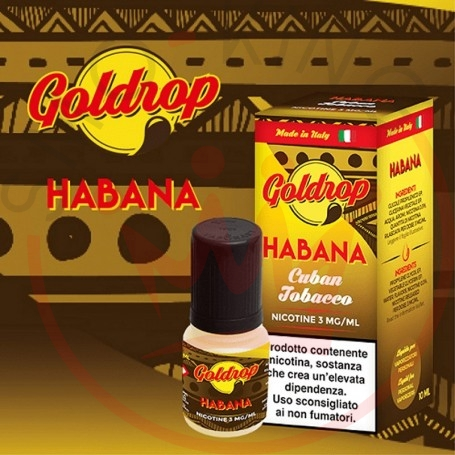 Vaporart Goldrop Habana 10 ml Nicotine Eliquid