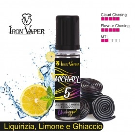 Iron Vaper Michael 5 Aroma 15 ml LIQUIRIZIA & LIMONE GHIACCIATO