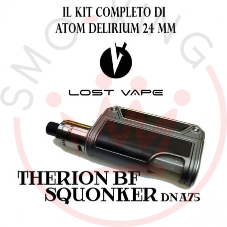 Lost Vape Therion Bf Squonker Dna75 Con Atom Delirium