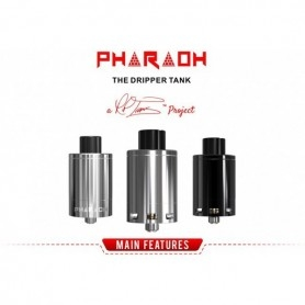 PHARAOH The Dripper Tank Rip Trippers Digiflavor 25mm Silver