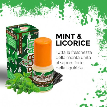 MINT & LICORICE 10 ml Liquido Pronto Nicotina VAPORART