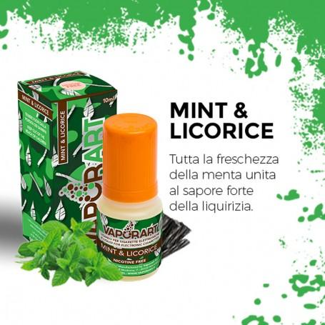 MINT & LICORICE 10 ml Nicotine Ready Liquid VAPORART