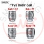 SMOK Head Coil TFV8 Baby X4 for SMOK the Baby TFV8 from 0.15 ohm - 5 pieces