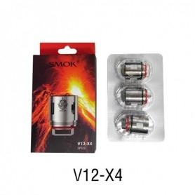 Smok Tfv12 V12x4 Quadruple Coil Resistenze di Ricambio Head 0.15ohm 3pz