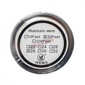 Mkws Titanium Wire 28ga 9ml