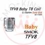 Smok Tfv8 V8 Baby T8 Octuple Coil Resistenze di Ricambio Da 0.15ohm 5 Pezzi