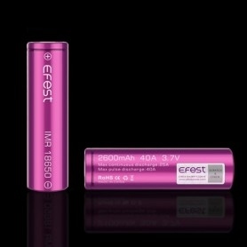 EFEST Imr 18650 Battery 2600mah 40a With Flat Top