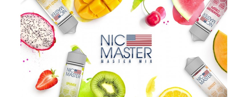 NIC MASTER Triple Concentration Aromas 40ml in 120ml Aromas Master Mix at the best price online Liquids Electronic Cigarettes from smo-kingShop.it