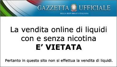 Divieto Vendita Online Liquidi Con e Senza Nicotina Sigaretta Elettronica