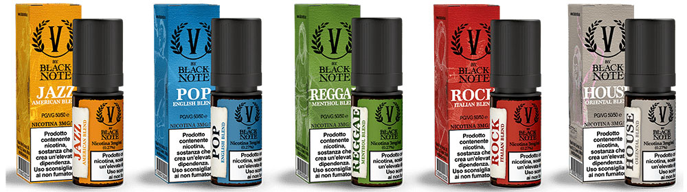 Serie V By BLACK NOTE Liquidi Pronto Nicotina 10 ml