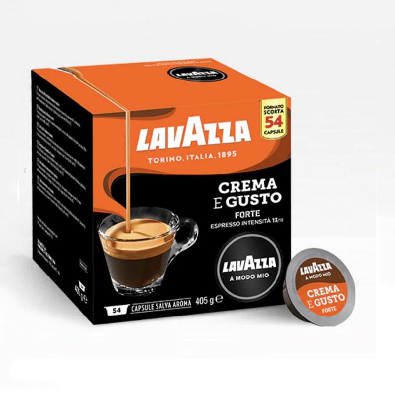 CREMA e GUSTO FORTE 54pz Capsule Caffè LAVAZZA A MODO MIO
