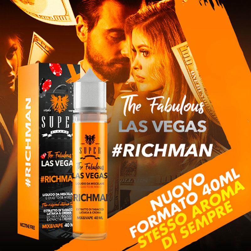 RICHMAN 40 ml Mix SUPER FLAVOR liquido per sigaretta elettronica al sapore di tabacco e creme