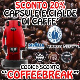 SCONTO CAPSULE E CIALDE CAFFÈ