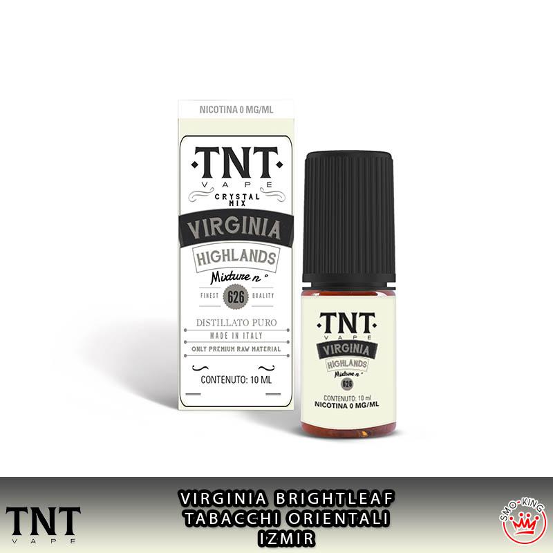 Virginia Highlands Crystal Mix 10 ml Liquido Nicotina Tnt Vape