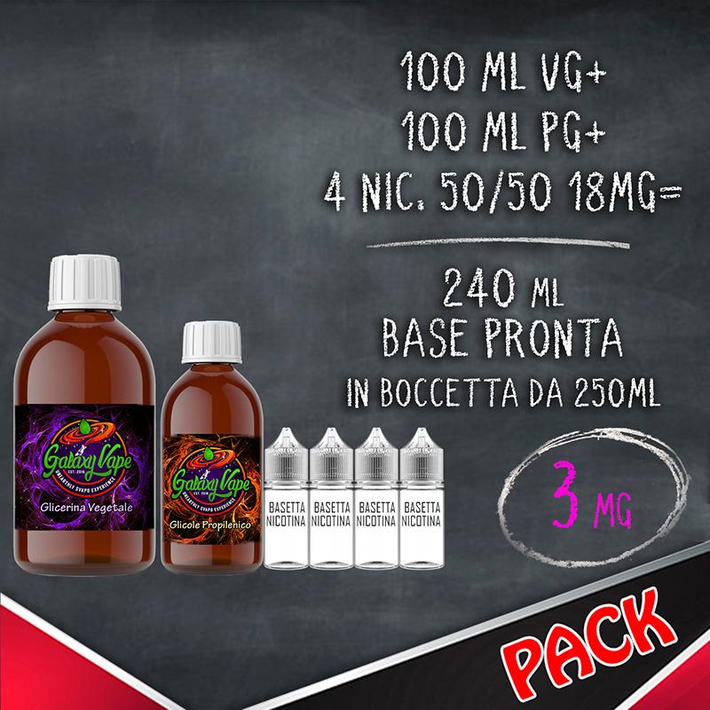 Kit Base Neutra 50/50 3 mg 240ml Galaxy Vape