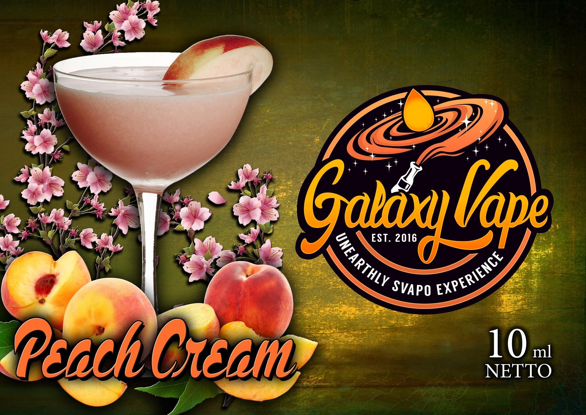 Galaxy Vape Peach Cream Aroma 10 ml