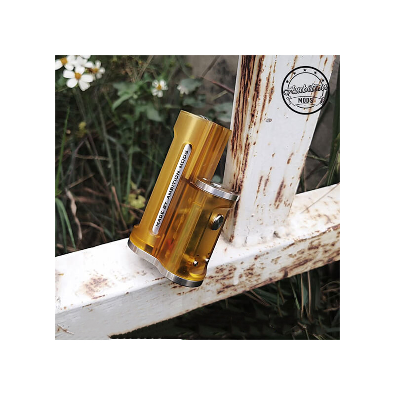 Ambition Mods Easy Side Box Mod 60W Ambition Mods Easy Side Box Mod 60W Yellow Frosted