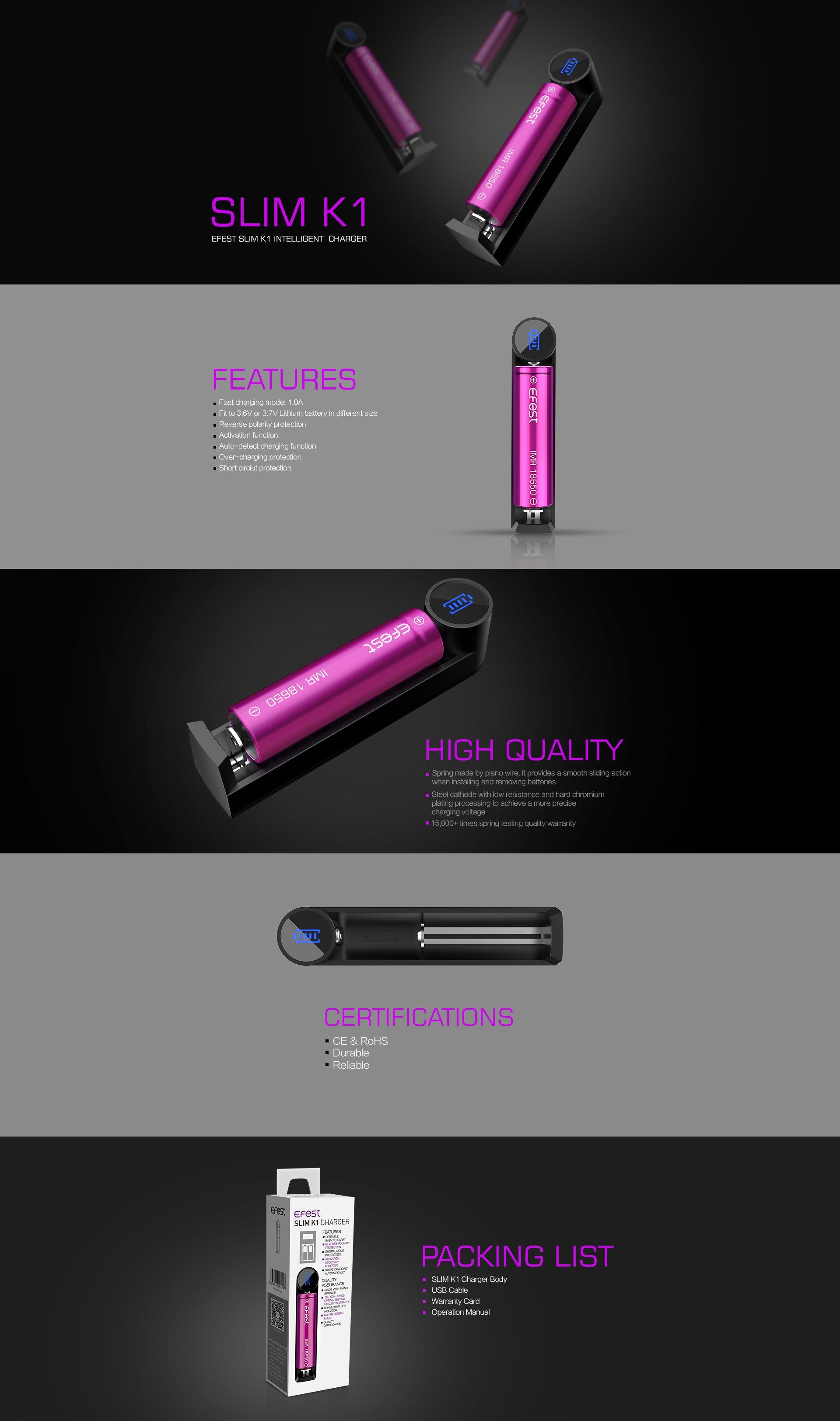 Efest-Slim-K1-Caricabatterie